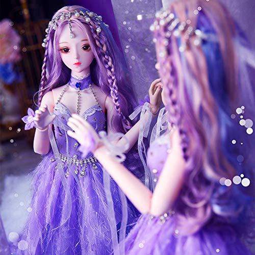 Shiwen Muñeca 60 cm vestir muñeca regalo cumpleaños niña niño juguete