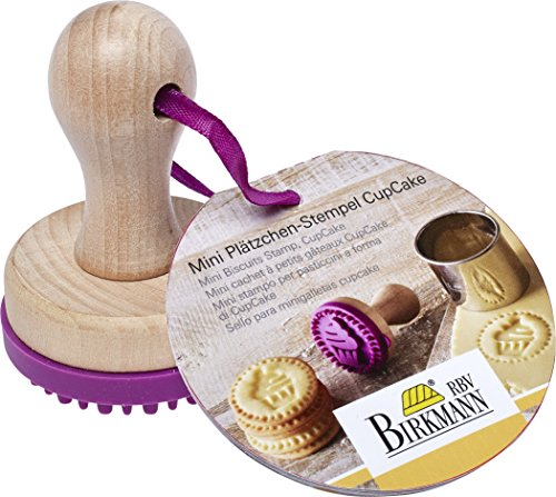Birkmann 340329 Cachet à Biscuits Mini Cup Cake Ø 5cm, Silicone, Pourpre/Brun, 5 x 5 x 4 cm