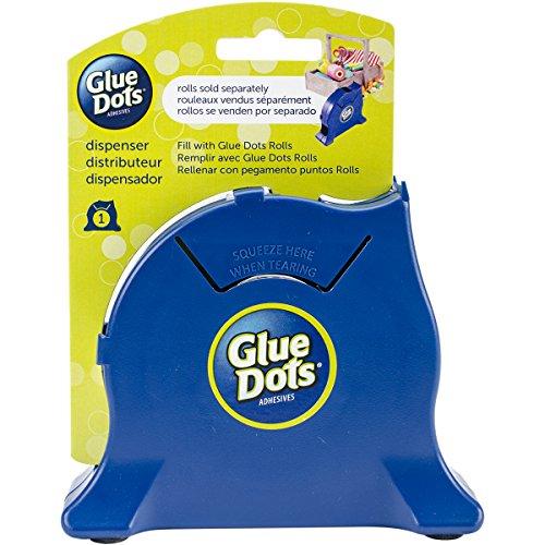 Glue Dots Granatowy dozownik na biurko, materiał syntetyczny, 15,9 x 12,7 x 4,1 cm