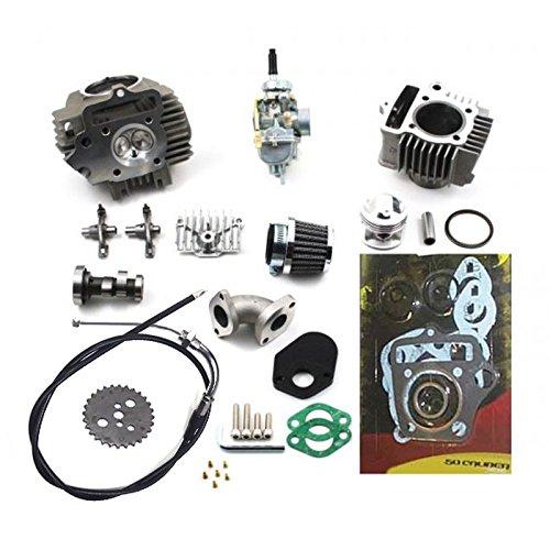 88cc Race Head Vintage Big Bore Kit and 20mm Carburetor - Fits Honda Z50 and CT70 Models [4448-A1]
