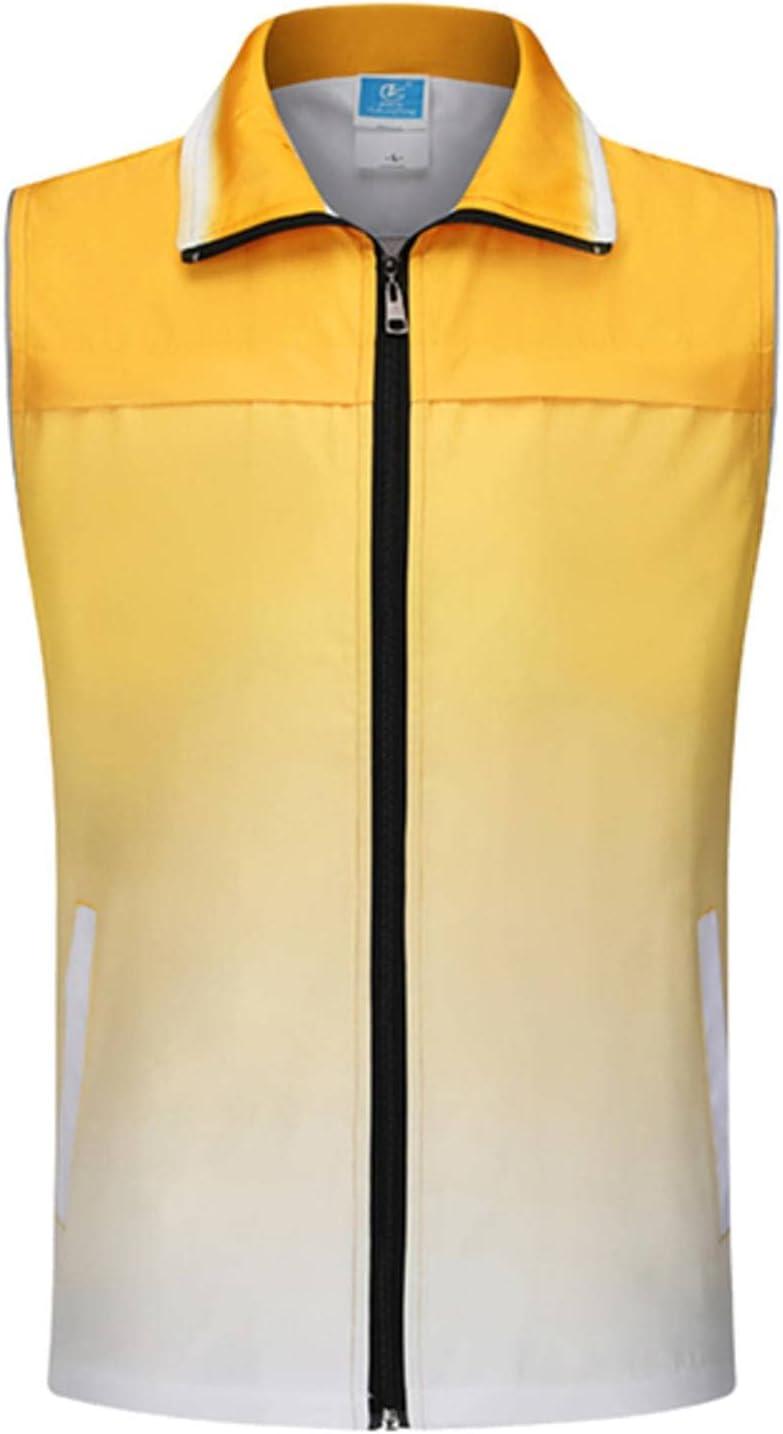 NC Reflective Vest Outdoor Men's Volunteer Volunteer Vest-Penetrating Gradient Color Zipper Workwear Jacket Sleeveless Vest 6 Color T252