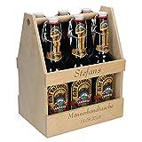 Uakeii Personalisierter Bierflaschenträger aus Holz mit Gravur -Zum selbst Gestalten- Sixpack...