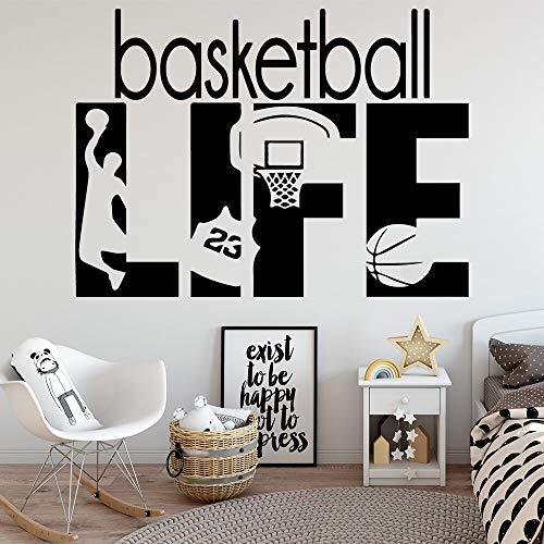 N\A Pegatinas de Pared de Vinilo con Vida de Baloncesto, decoración del hogar para niños y bebés, Pegatinas de Pared para decoración del hogar, Papel Tapiz Impermeable