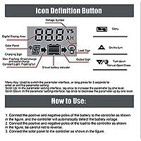スマート充電コントローラー、商業用産業用家庭用3ステージPWM充電コントローラーソーラーパネル(10A)