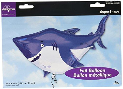 Amscan 3377401Ozean Buddies Shark Super Form foil Luftballons ,101cm x 81cm