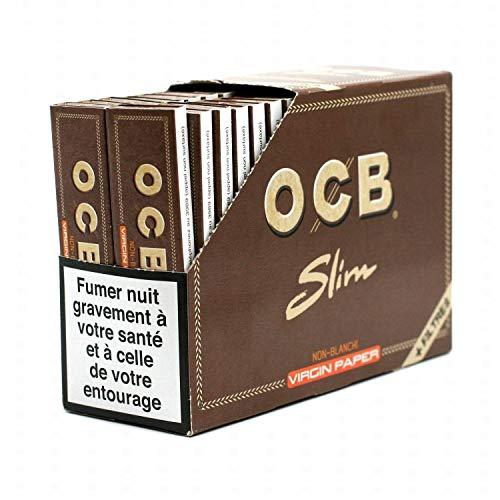 papier à rouler ocb virgin slim + filtre pack de 32 carnets