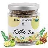 Keto Teaand Glowing Skin - Tea with Garcinia Cambogia Green Coffee and Other Natural Herbs - 100 Gm