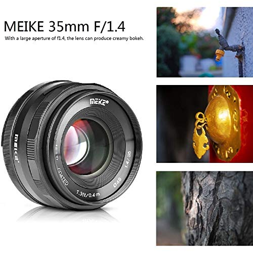 SSSabsir MEKE 35mm f1.4 Manual Focus Lens for Sony E-mount A7R A7S A6500 A7/Fuji X-T2 X-T3/Canon EOS-M M6 /M4/3 Mirrorless Camera Sony