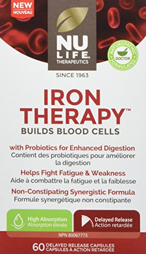 NuLife Therapeutics by NuLife Vitamins Iron Therapy - Builds Blood Cells, 60 Count
