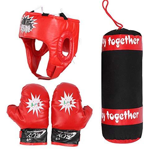 Boxningssäck, Fighting Training Pendant för barn, Boxning Sand Slay Set med handskar, Boxning Träning Hjälm, Sport Fitness Set