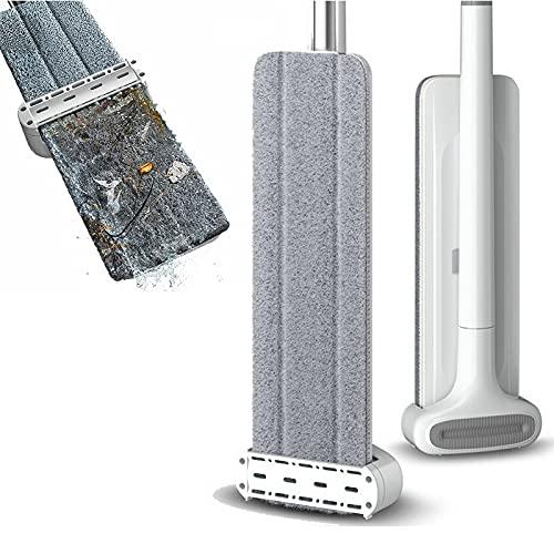 WPC Brands ångmopp Congis Handfree Squeeze Mops med 3 st mikrofiberduk 360 roterande platt golvmopp för tvätt golv hus rengöringsverktyg snurrmopp (färg: 36 cm 3 tygmoppar)