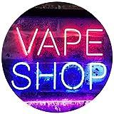 ADVPRO Vape Shop Indoor Display Dual Color LED Neon Sign Blue & Red 16' x 12' st6s43-i3018-br