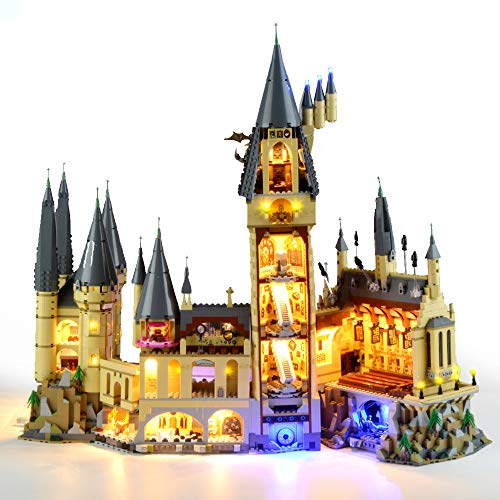 HZQM Blocks Light kit for Harry Potter Hogwarts Castle Lighting Set  Compatible with 71043 Lego Building Model Lego Set Not Included