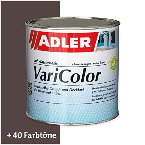 ADLER Varicolor 2in1 Smalto acrilico colorato per interno ed esterno - 750 ml RAL8017 Marrone cioccolata - Smalto e fondo resistente alle intemperie per legno, metallo e plastica - Semilucido