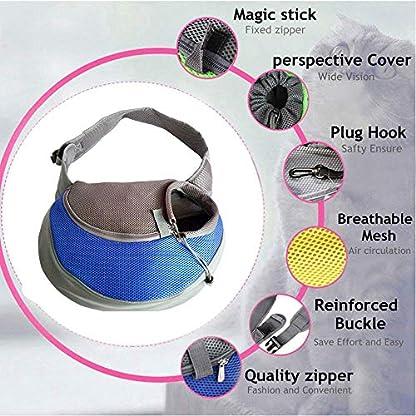 PETEMOO Pet Sling Carrier Bag, Hand-Free Dog Cat Outdoor Travel Shoulder Bag with Adjustable Strap& Zipper 6