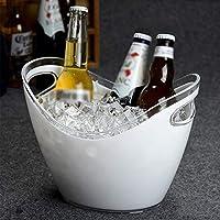 クリエイティブポータブルインゴットアイスバケツ、ワイン、シャンパン、アイス・キューブバー、ホームサイズのバケツ、プラスチックホワイト3L8L 氷のバケツ (Size : 26.4*19.8cm)