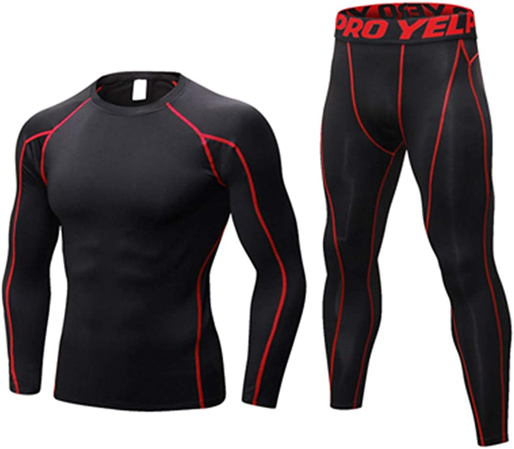 Men Winter Thermal Underwear Sets,Dry Technology Elastic Thermo Underwears Suits,Warm Long Johns