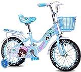 XZQ Les Enfants de vélo de 18 Pouces Fille Porte-bébé 6-9 bébé vélo Haut en Acier au Carbone vélo Pliant (Color : Pink)