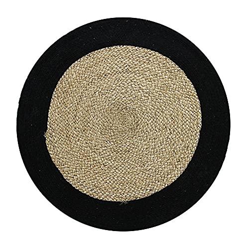 Alfombra de 70 cm de diámetro, Color Negro