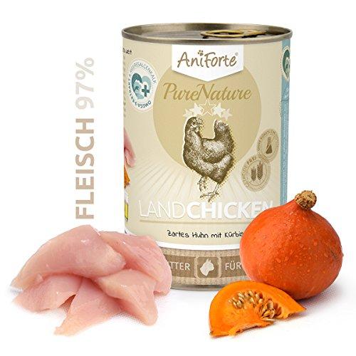 Comida húmeda para gatos AniForte PureNature - Pollo tierno con calabaza (400 g)