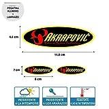 Pegatina Adhesivo Compatible con AKRAPOVIC Ovalado Alta Temperatura Laminado Impresion Digital Tubo DE Escape 3 Unidades