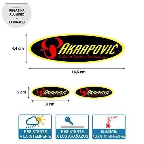 Aufkleber Kompatibel Mit Oval Akrapovic Hoch Temperatur Laminat Print Digital Rohr Auspuff 3 Einheiten