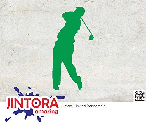 JINTORA stickers voor auto/autostickers Golfer - Golf Sport - 71mm x139mm - JDM/Die cut - Bus - Raam - Achterruit - Laptop - LKW - Tuning groen