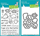 Lawn Fawn Get Well Before 'n Afters 4'x6' Clear Stamp Set and Matching Lawn Cuts Die Set (LF1886, LF1887), Bundle of Two Items