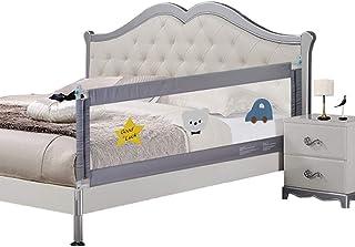 Barandilla de cama de siete colores para niños pequeños, extra larga, vertical, para cama individual, doble, tamaño comple...