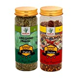 Axium Pizza Combo of Oregano & Chilli Flakes Regular Italian Superior Quality Special Tasty Spices...