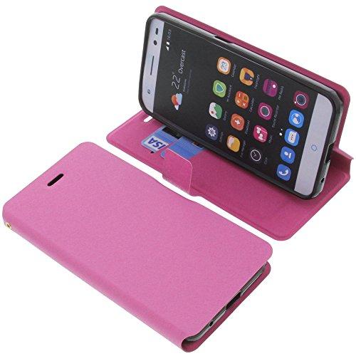 foto-kontor Tasche für ZTE Blade V7 Lite Book Style pink Schutz Hülle Buch