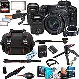 Canon EOS R Mirrorless Digital Camera with RF24-105mm f/4-7.1 STM Lens Bundle + 75-300mm F/4-5.6 III Lens + 128GB Memory + Case + Filters + Tripod (26pc Bundle)