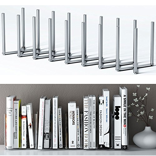 Adjustable Book Holder Bookend 8 Sections Extends up to 28