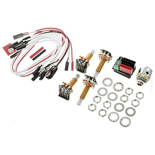 EMG 1 or 2 Pickups HZ (PASSIVE) Conversion Wiring Kit Long Shaft