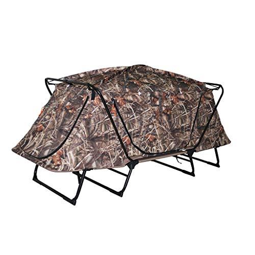 Toldo de terraza Carpa profesional al aire libre fuera de la tienda de caza y pesca multifunción doble silla plegable aleación de aluminio de cuatro patas soporte 600D Oxford tela doble tienda de camu