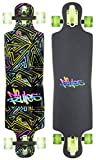 authentic sports & toys GmbH Longboard ABEC 7, No Rules Neon, con Luces en Las Ruedas