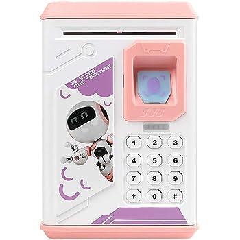 Frontoppy Hucha Electrónica con Combinación - Caja de Seguridad con Contraseña Personalizada, ATM Ahorro de Bancos,Juguetes de los Regalos para Niños con Sonido: Amazon.es: Hogar
