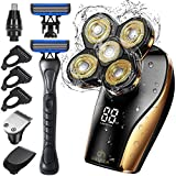 Head Shavers for Bald Men, OriHea Electric Razor for Men with Handle Shaver Professional Waterproof with LED Display, Faster-Charging, 90 mins Working, 5D Floating