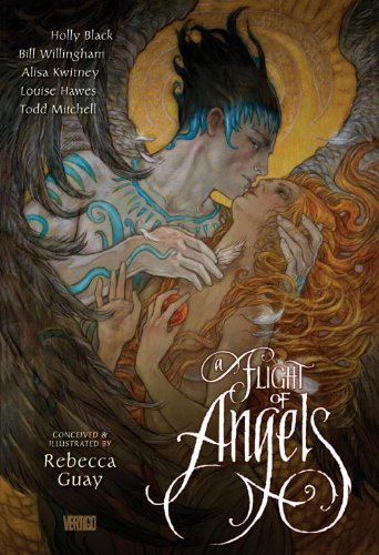 Cover of A Flight of Angels a graphic/comics anthology, edited by REBECCA GUAY.