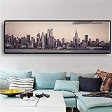 Manhattan Empire State Building New York City Landscape Canvas Art Posters e impresiones Imagen de pared escandinava para habitación 40x120cm Sin marco
