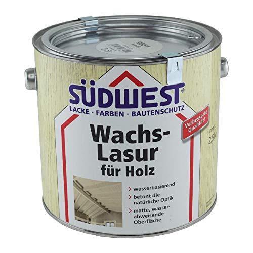 Südwest Wachs-Lasur für Holz Weiß 2,5 Liter