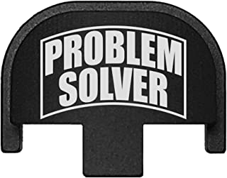 BASTION Laser Engraved Rear Cover Slide Back Plate for Smith & Wesson SD9VE, SD9, SD40VE, SD40. 9mm & .40 Cal - Problem Solver