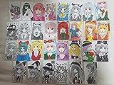 東方project オリジナル 手描きイラスト30枚セット ペン画 コピック 色鉛筆