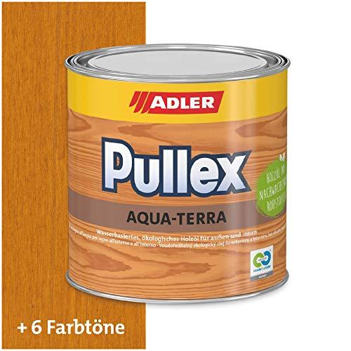 ADLER Pullex Aqua-Terra - Ökologisches Holzöl Außen & Innen - Universell anwendbar für starken Wasserschutz & lange Haltbarkeit - Auf Wasserbasis & nachwachsender Rohstoffe - Lärche 2,5 l
