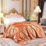 Juego de ropa de cama de seda de satén de lujo, funda de edredón y sábana bajera ajustable para cama doble, tamaño king, 19 camas individuales, 3 unidades