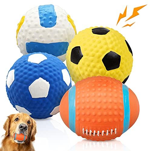 """Palle per cani stridule 3"""" Durevoli, morbidi giocattoli per cani in lattice per cani di taglia piccola e media da prendere, inseguire, lanciare, masticare Giocattoli per cani di alta qualità"""