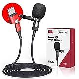 Micrófono de solapa Pixel MFi para iPhone / iPad, grabación omnidireccional y micrófono de solapa de sonido de alta fidelidad con cable de 2M, para YouTube grabación de video y vlog