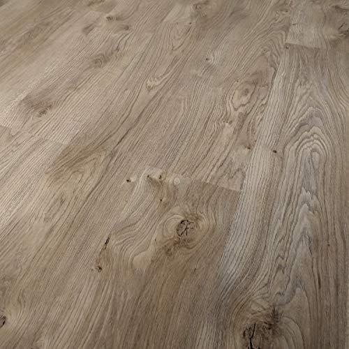 TRECOR® Klick Vinylboden RIGID 3.2 Massivdiele - 3,2 m stark mit 0,20 mm Nutzschicht - Sie kaufen 1 m² - WASSERFEST (Vinylboden 1 qm, Trend Oak Nature)