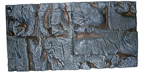 WAVE Fond 3D Roche pour Aquariophilie 118 x 50 cm 2 Pièces - Lot de 2