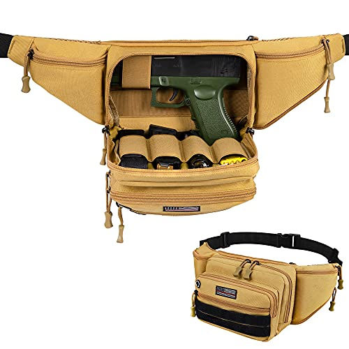 Concealed Carry Pistol Pouch, Tactical Fanny Pack Holster...